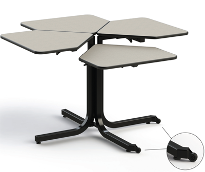 Adjutable Table 4-Person