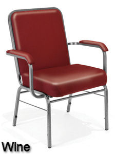 Wine Vinyl - Bariatric Stack Chair