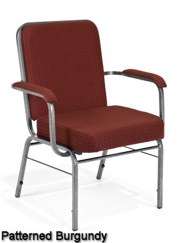 Burgundy - Bariatric Stack Chair